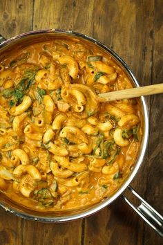 Vegan and gluten-free Creamy Chili Sauce with Zucchini, Spinach and Pasta. An incredibly creamy, rich and yet light with no oil or butter. Just whole food ingredients. So much flavor from Italian dried herbs and chili powder and tomato sauce. If there was ever a throw-together meal that turned out amazing, this is it!! I'm sharing another sauce and pasta