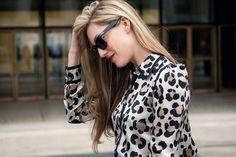 Leopard blazer.