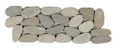 Show sliced java tan pebble tile border