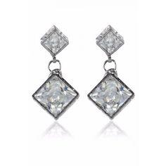 Buy Krafftwork silver alloy danglers & drop