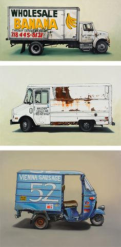 vehicle paintings by New York-based artist Kevin Cyr