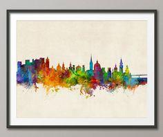 Salzburg Skyline, Salzburg Austria Cityscape Art Print (2680) by artPause on Etsy