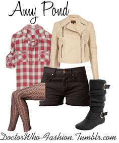The girl who waited... Amelia Pond - Doctor Who inspired outfit.
