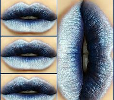 Ice blue lipstick shade goth makeup
