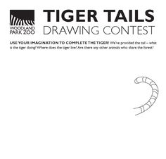 Mom! Print off a Tiger Tails drawing form for your little one. One lucky winner will win a ZooParent #tiger adoption with a plush tiger!