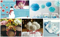 "LOVE the wording for the invite ""Winter ONE-derland"".  Great idea for first birthday."
