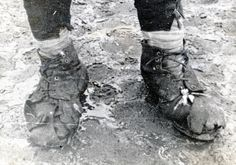 A Pole wears what little is left of his boots, 1942 (Courtesy of The Polish Institute & Sikorski Museum - London)