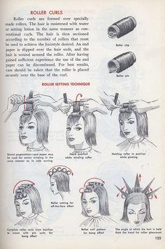 Fancy Hairstyles, Hairstyles Haircuts, Vintage Hairstyles, Eyeshadow Makeup, Hair Makeup, Retro Haircut, Barber Shop Haircuts, Hear Style, Roller Curls