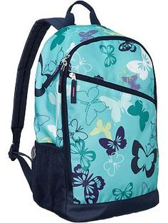 One of the Girls Printed Backpacks | Old Navy. I like that pattern and I'd use this for school.