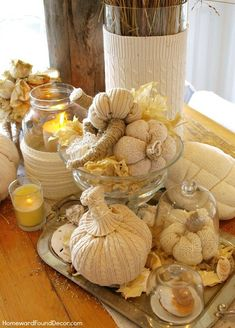 diy sweater pumpkins ~ how cute are these!