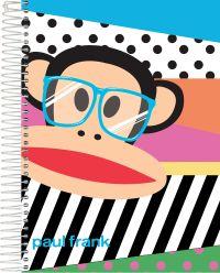 Caderno Universitário Espiral Foroni 1X1 - 96 Folhas - Paul Frank - Óculos
