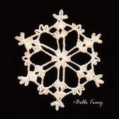 365 Crochet Snowflakes By Belle Tracy Free Crochet Snowflake Patterns, Crochet Stars, Christmas Crochet Patterns, Crochet Snowflakes, Crochet Motif, Crochet Christmas Decorations, Crochet Ornaments, Snowflake Ornaments, Christmas Snowflakes