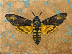 """Golden Insects"" - Original Fine Art for Sale - © Clair Hartmann"