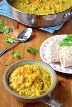 Sweet Potato and Almond Curry with Chappati