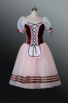 """This beautiful stage costume has been created for the ballet """"la Fille Mal Gardee"""". It can also be used for ballets such as """"Giselle"""", """"Napoli"""", """"La Vivandiere"""", """"Napoli"""", """"Flower Festival in Genzano"""""""