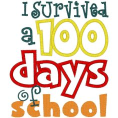 I survived 100 days of school-