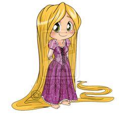 Rapunzel Chibi | Bem, vou dar um intervalo com esses chibis por enquanto, senão vou ...