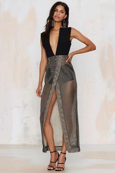 Solace Amara Net Maxi Dress - Black Friday
