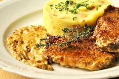 Zapečené kotlety se smetanou a hořčicí Breakfast Recipes, Snack Recipes, Cooking Recipes, Snacks, Czech Recipes, Ethnic Recipes, Stew, Good Food, Food And Drink