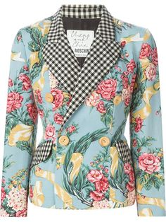 Shop Moschino Vintage floral gingham blazer in House of Liza from the world's best independent boutiques at farfetch.com. Shop 300 boutiques at one address.