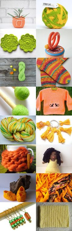 Citrus delights :) by Laura and Kim on Etsy--Pinned with TreasuryPin.com Crochet Necklace, Challenge, Etsy, Jewelry, Crochet Collar, Jewellery Making, Jewerly, Jewelery, Jewels