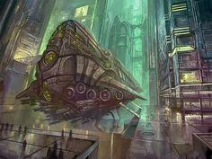 Spaceship by yonaz.deviantart.com on @DeviantArt