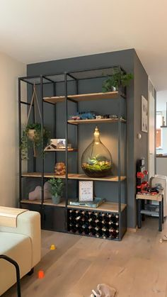 Get inspired! What beautiful wire furniture! Take a look at Kamaro and design your own! Industrial Interior Design, Interior Design Living Room, Living Room Designs, Decor Industrial, Industrial Bookshelf, Modern Industrial, Vintage Industrial, Regal Design, Küchen Design