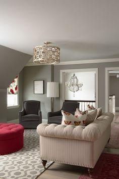 zimmer einrichten rote aktente wohnzimmer