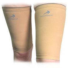 Thigh Compression Sleeves (1 Pair - Nude XL) Men, Women & Youth Hamstring Pain/ Quad Support & Recovery - Reduce Groin Strains & Cramps - Snug & Warm For Tennis, Soccer, Basketball Sports CompressionZ