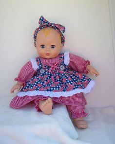 Watermelon Baby Doll Pinafore Dress for 14 by leoniesdollfashions, $18.95