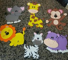 Preschool Art Activities, Kindergarten Crafts, Dibujos Baby Shower, Art For Kids, Crafts For Kids, Diy Classroom Decorations, Safari Theme Party, Art N Craft, Kids Wood