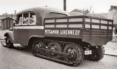 Petsamo van Weird Cars, Cool Cars, Station Wagon, Pickup Trucks, Concept Cars, Military Vehicles, Offroad, Inventions, Tractors