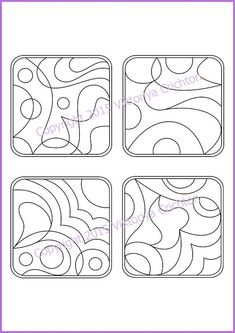 Strings for drawing zentangles. Tangle pattern by ZentangleHouse