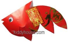 Chinese New Year Fish Mobile Craft - kiddyhouse.com