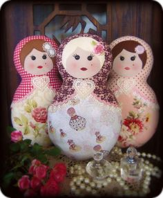 Flowers, Frills, Buttons & Bows    Nellie, Tilly and Kate ♥ Babushkas