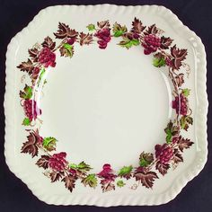 Johnson Brothers EMPIRE GRAPE Square Salad Plate S275908G2 #JohnsonBrothers
