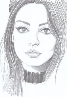 My drawing of Mila Kunis #Mila #drawing #MilaKunis #fanart