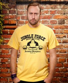 Boyfriend gift Jungle Force mens tshirt Husband Gift by store365