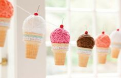 DIY Yarn Ball Ice Cream Cones for ice cream theme party Ice Cream Theme, Diy Ice Cream, Ice Cream Party, Surprise Parties, Crafts For Kids, Diy Crafts, Yarn Crafts, Ice Cream Social, Diy Inspiration
