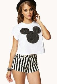 75f136b0615 Forever21 - crop top Mickey Mouse Shirts, Mickey Mouse Outfit, Mickey  Minnie Mouse,