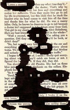 Blackout Poetry via Tumblr