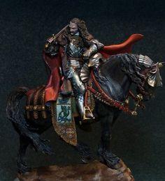Vlad Dracul by oxo-kod · Putty&Paint Dark Fantasy, Fantasy Art, Lord Of War, Bram Stoker, Dracula, Action Figures, Nerd, Anime, Painting