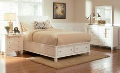 Casual White Queen Bed 201309Q