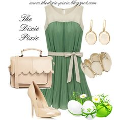 Easter Dresses. Easter Outfits. Fashion for women over 40. Modern-Southern-Style, created by dixiepixie on Polyvore