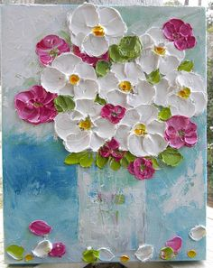 Original Oil Impasto Painting Spring Fresh by KenziesCottage