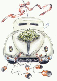 Auto Von Hinten Just Married Startpage Bild Suchen