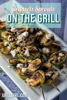 With my recipe for how to cook Brussels sprouts on the grill, you'll be won over by the smoky flavor and caramelized edges. Then with a homemade finish of balsamic glaze, you're in for a perfect salty, sweet, tangy, creamy, crunchy bite. Barbecue Recipes, Grilling Recipes, Paleo Recipes, Grilled Side Dishes, Side Dishes For Bbq, Grilled Vegetable Recipes, Grilled Vegetables, Outdoor Cooking Recipes, Balsamic Glaze Recipes