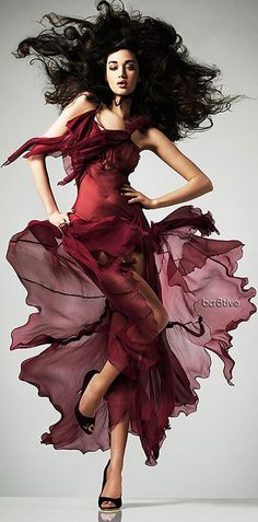 Calle Stoltz burgundy red dress