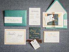 Vineyard Invitations Modern Wedding Invites by JulieHananDesign