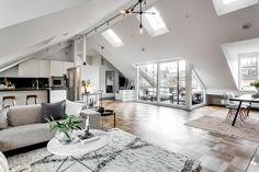 Exclusive Attic Apartment Style In Stockholm | Decorazilla Design Blog
